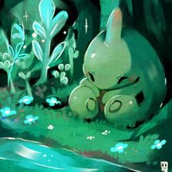 Larvitar by Teatime-Rabbit