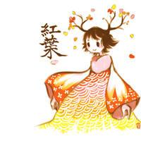 Crimson Leaves by Teatime-Rabbit