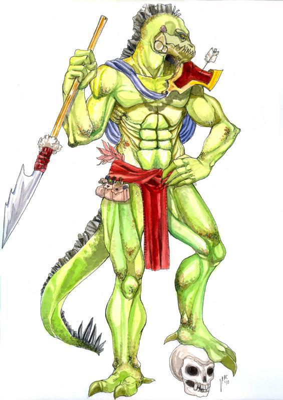 Lizardman by Garkudion