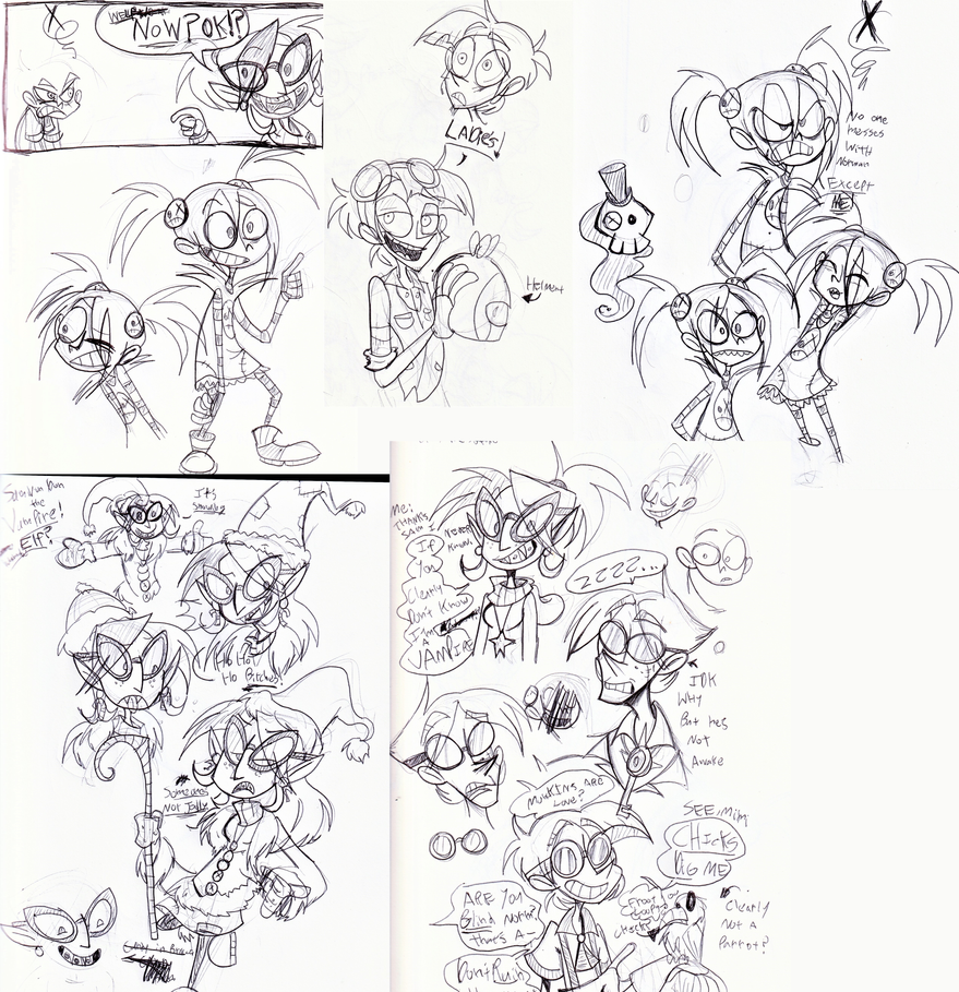Oh joy more sketches by Freakly-Silent