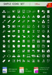 Set of simple icons OFFICE