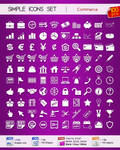 Set of simple Commerce icons