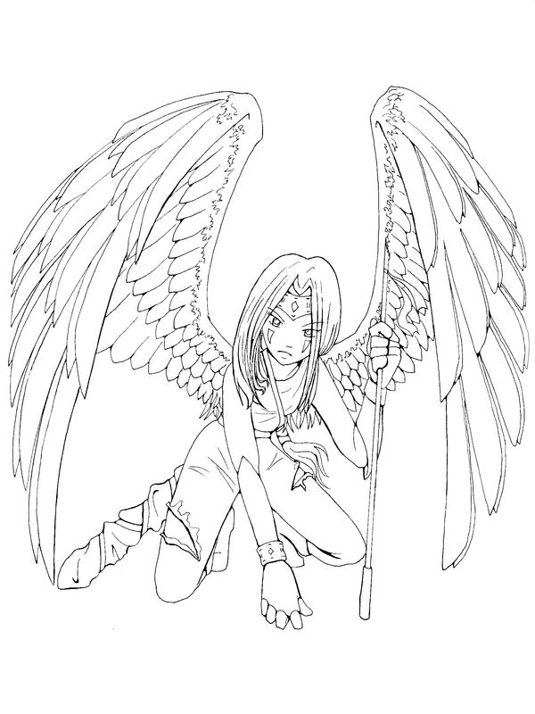 warrior angel coloring pages - photo#23