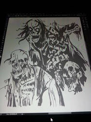 Some zombie work by JWDesignCenter
