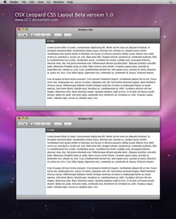 OSX Leopard CSS Journal by D72