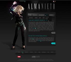 Artist website by D72