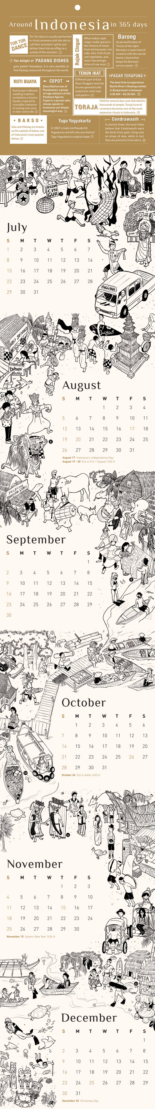 Kineto Calendar 2012 July - December by qbenk
