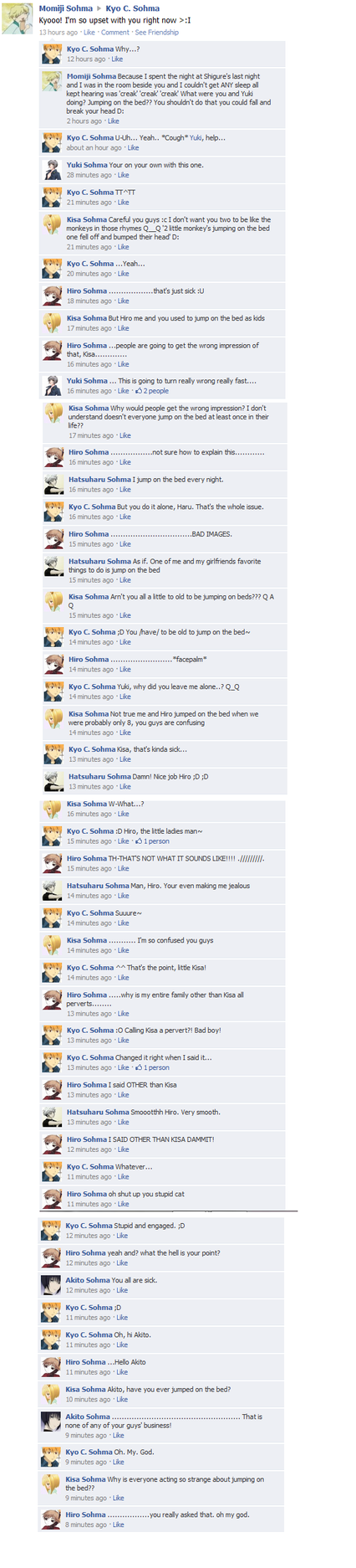 Fruits Basket FB: Bed Jumpin by FruitsBasketFacebook