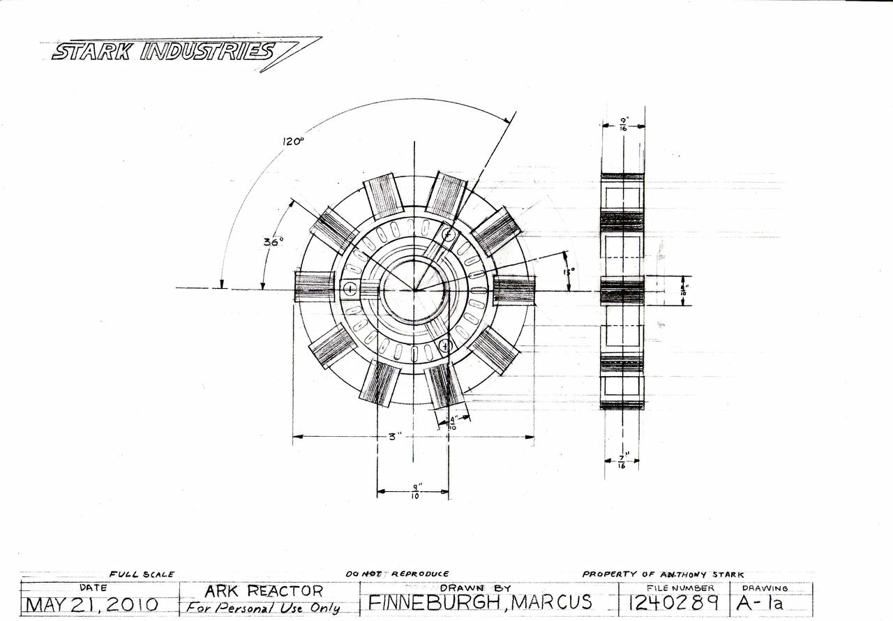Arc Reactor Technical Drawing