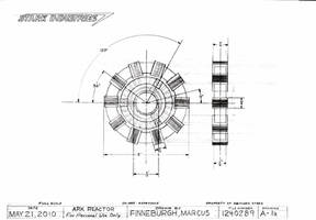 Arc Reactor Technical Drawing by MarkFinn