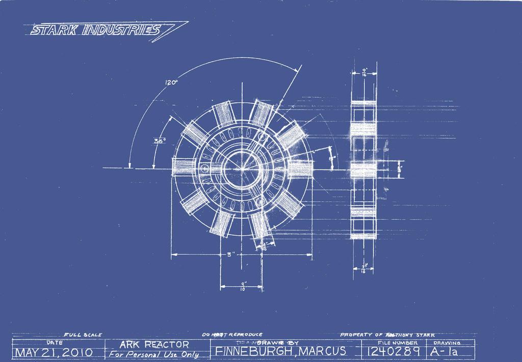 Arc Reactor Blueprint by MarkFinn on DeviantArt