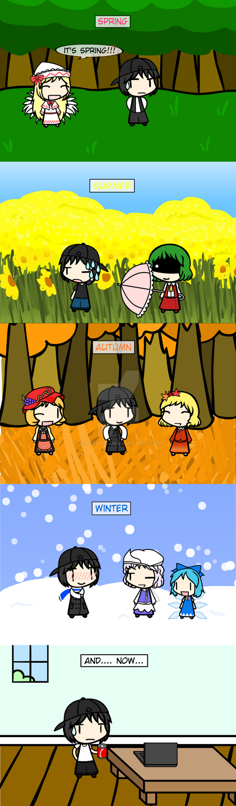 (walfas) my Four seasons Clothes by Godeung