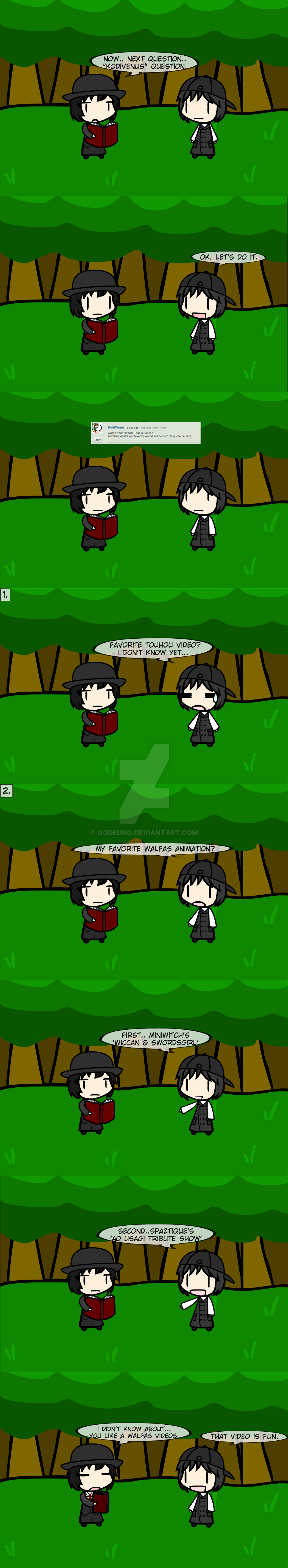 (walfas) New Q and A Ask me! 3 by Godeung