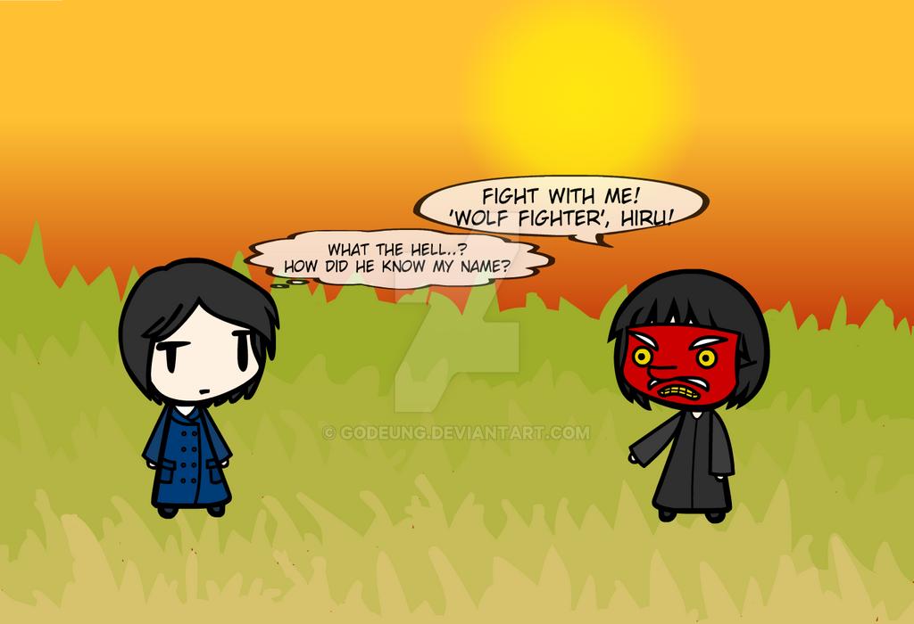 (walfas) Hiru meet Mr.fish! by Godeung