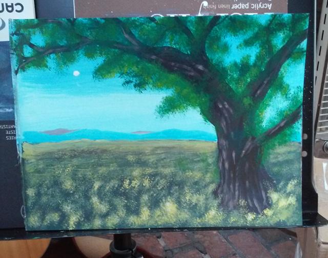 Painting 08 Oak Tree Field A by DungeonmasterJim
