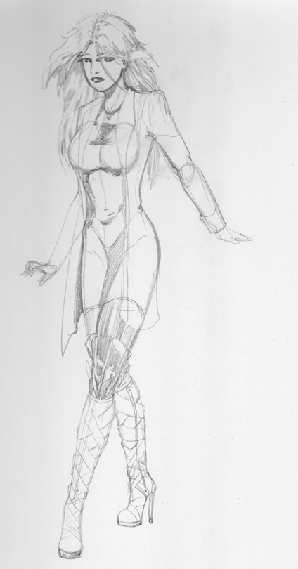 Trench and boots pencils by DungeonmasterJim