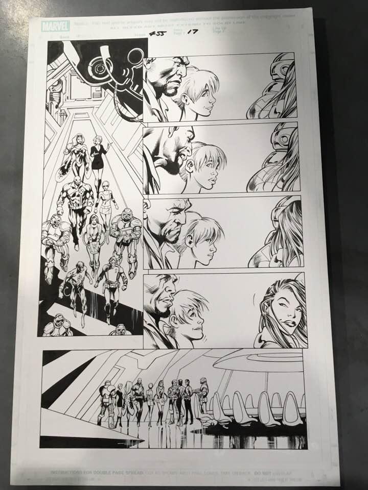 Alan Davis X Men page by DungeonmasterJim