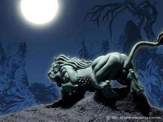 Blue lion by khikman