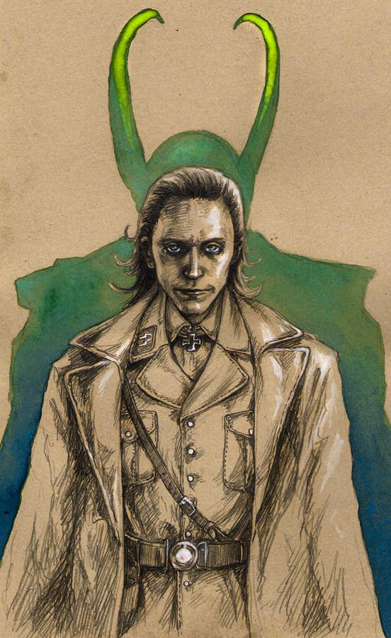 Loki in uniform by LenkaSimeckova