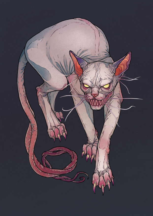 Goblin cat by MadLittleClown