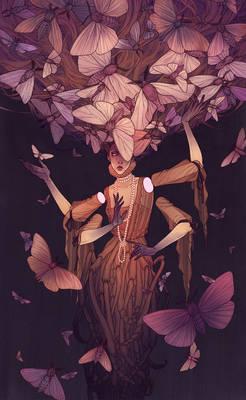 Moth lady