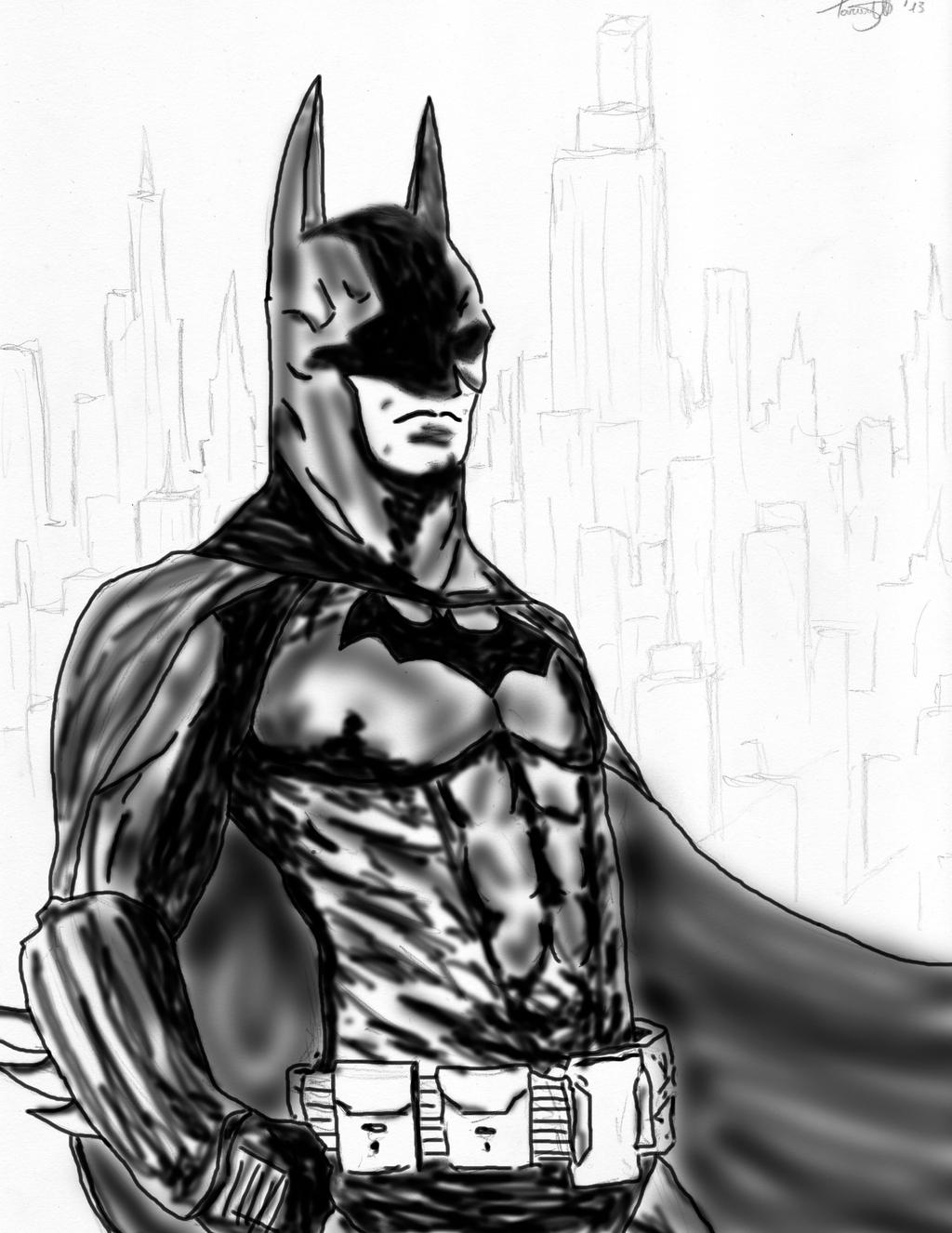 Batman - At Night by Snakethoot