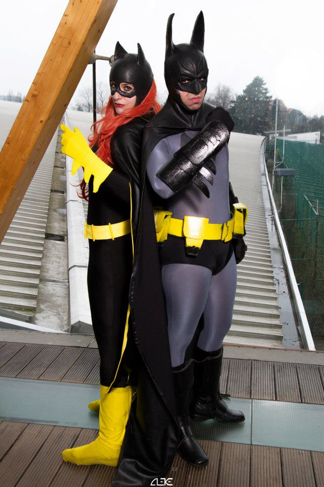 Batman and Batgirl - Caped crusaders by Snakethoot
