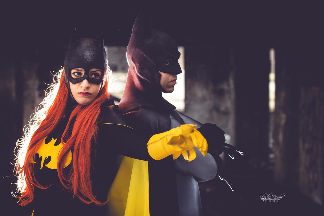 Batman and Batgirl by Snakethoot