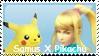 SSBB: Samus X Pikachu Stamp by Vanhelsing1117