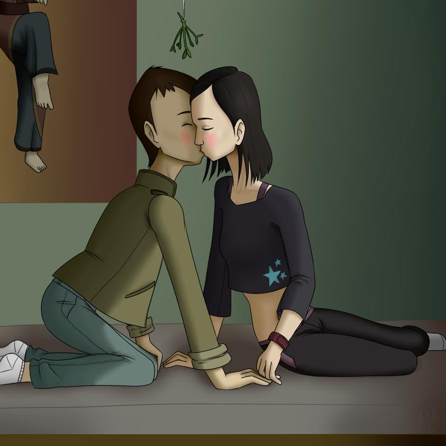 Mistletoe: Stage 2 Kiss by A-queenoffairys