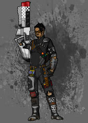 Me as a Vault Hunter from Borderlands by cat-gray-and-me78