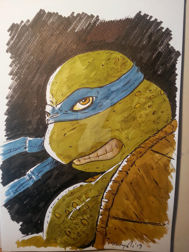 Leonardo the Turtle by graphicus-art