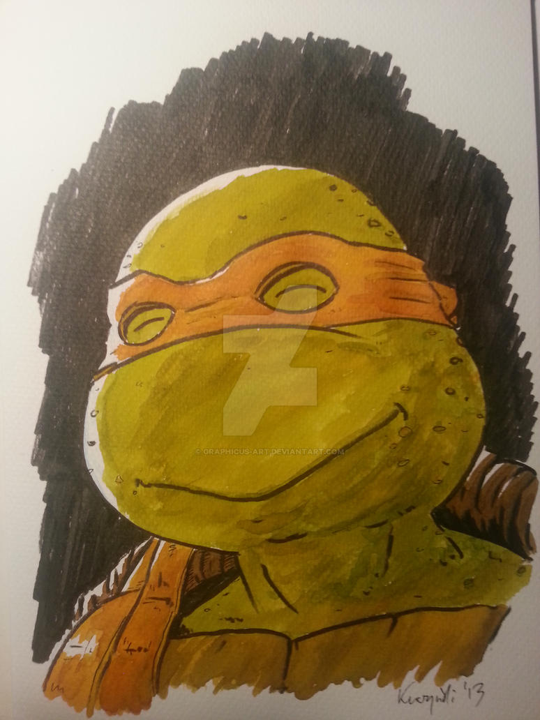 Michaelangelo the Turtle by graphicus-art