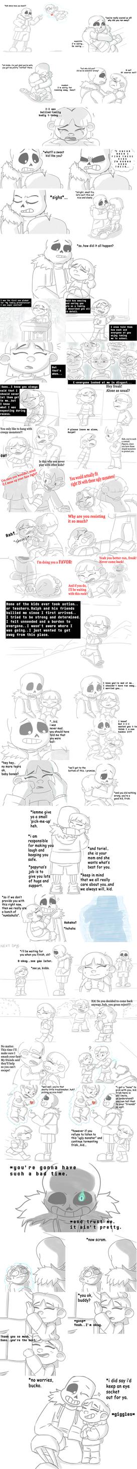 Undertale // Bullied (comic) by BroGirl62