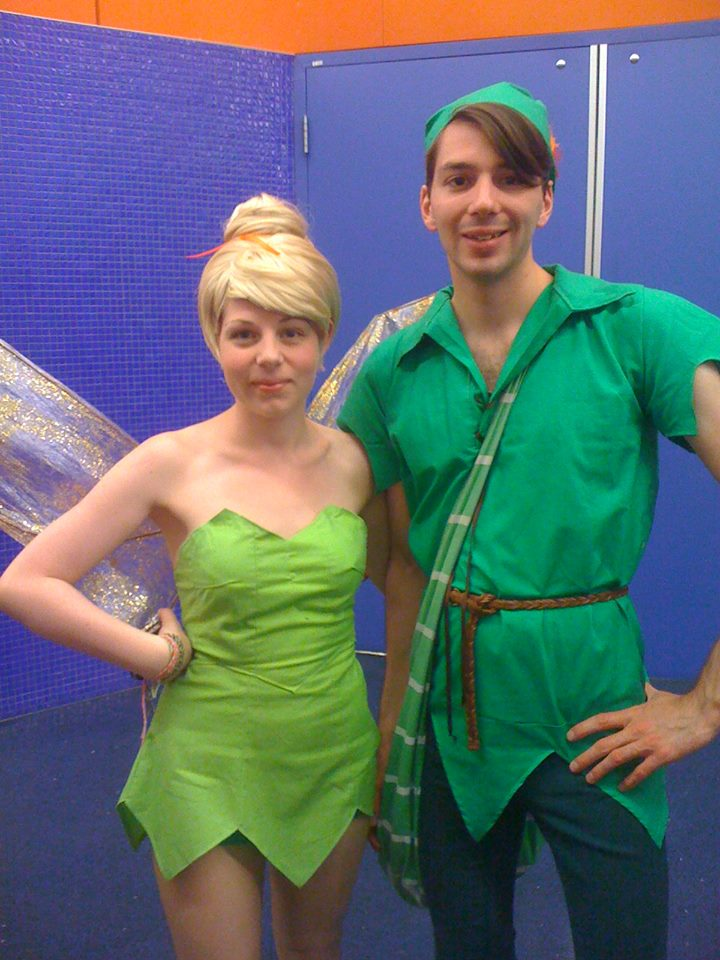 tinkerbell and peter pan by namine24