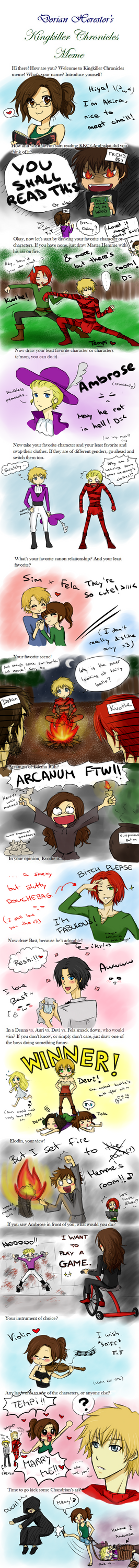 Kingkiller Chronicle Meme! by Akira035