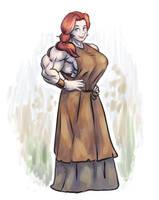 [OC]: Sonia The Blacksmith by maistromanuel