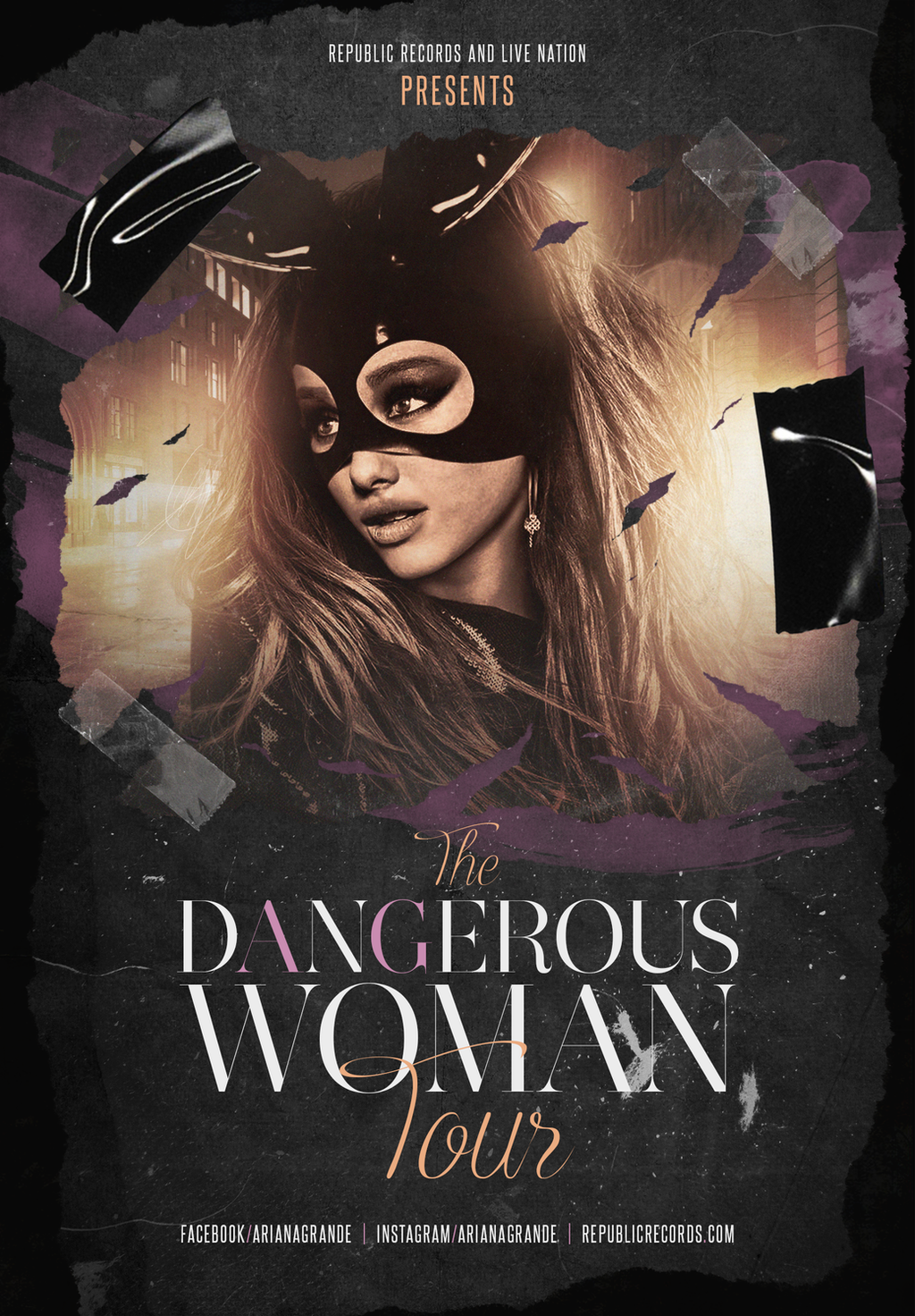 Ariana Grande Dangerous Woman Tour Poster By