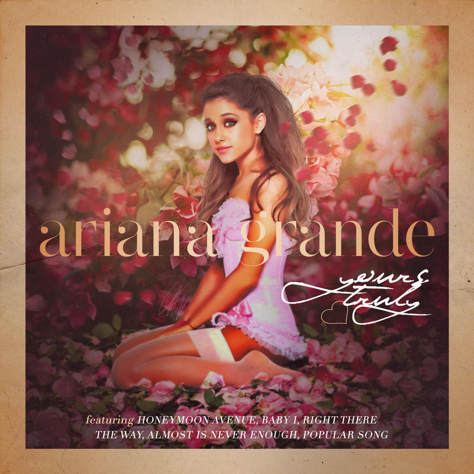 Mp3 Sweetener Ariana Grande: Yours Truly By GOLDENDesignCover On DeviantArt