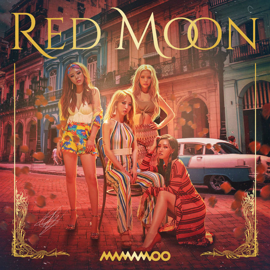Mamamoo - Red Moon by GOLDENDesignCover on DeviantArt