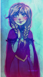 Frozen: Anna by ZARINAABZALILOVA