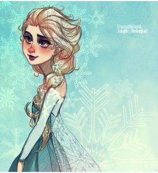 Frozen: the Snow Queen Elsa by ZARINAABZALILOVA