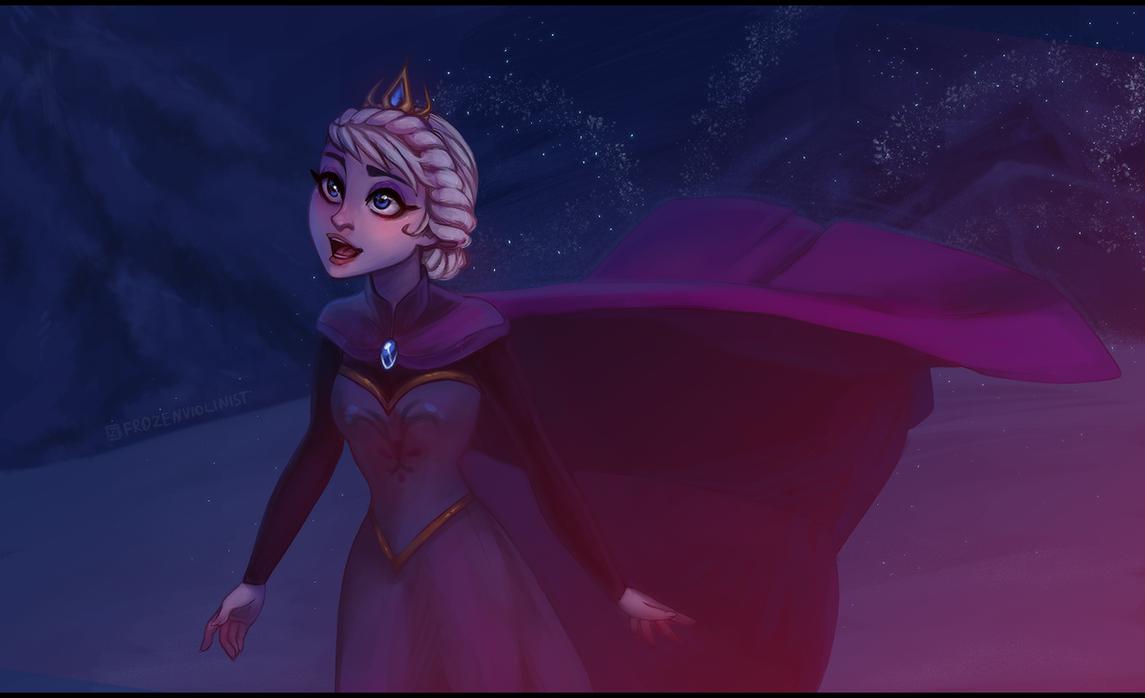 Frozen: Elsa - Let it go - by ZARINAABZALILOVA