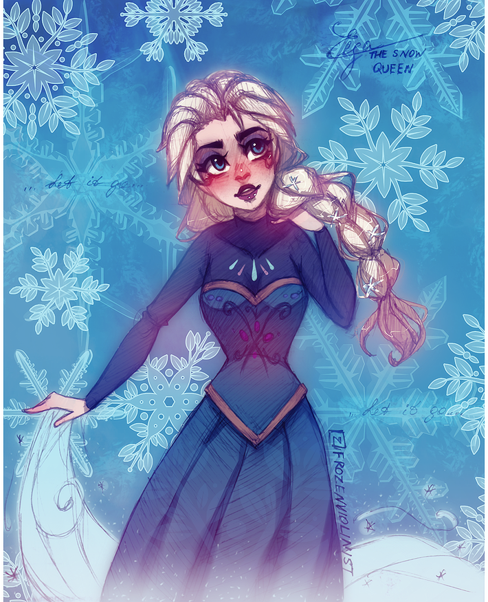 Elsa: Let it go... by FROZENVIOLINIST