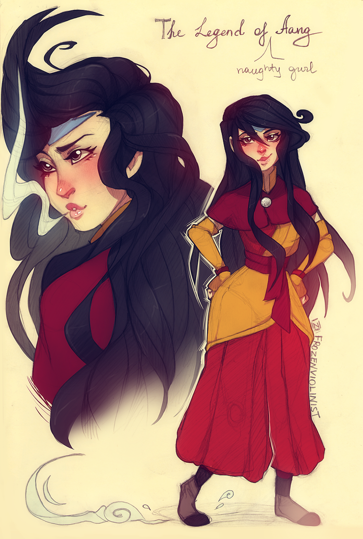 the Legend of Aang: Gender Bender: Aang by FrozenViolinist