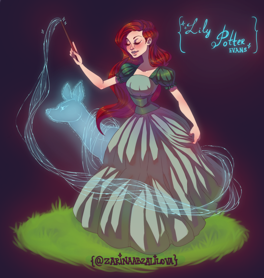 Character Design Challenge Twitter : Character design challenge lily potter by