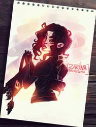 Katniss Everdeen Doodle by ZARINAABZALILOVA