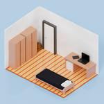 Blender Low-Poly Render - Simple Room