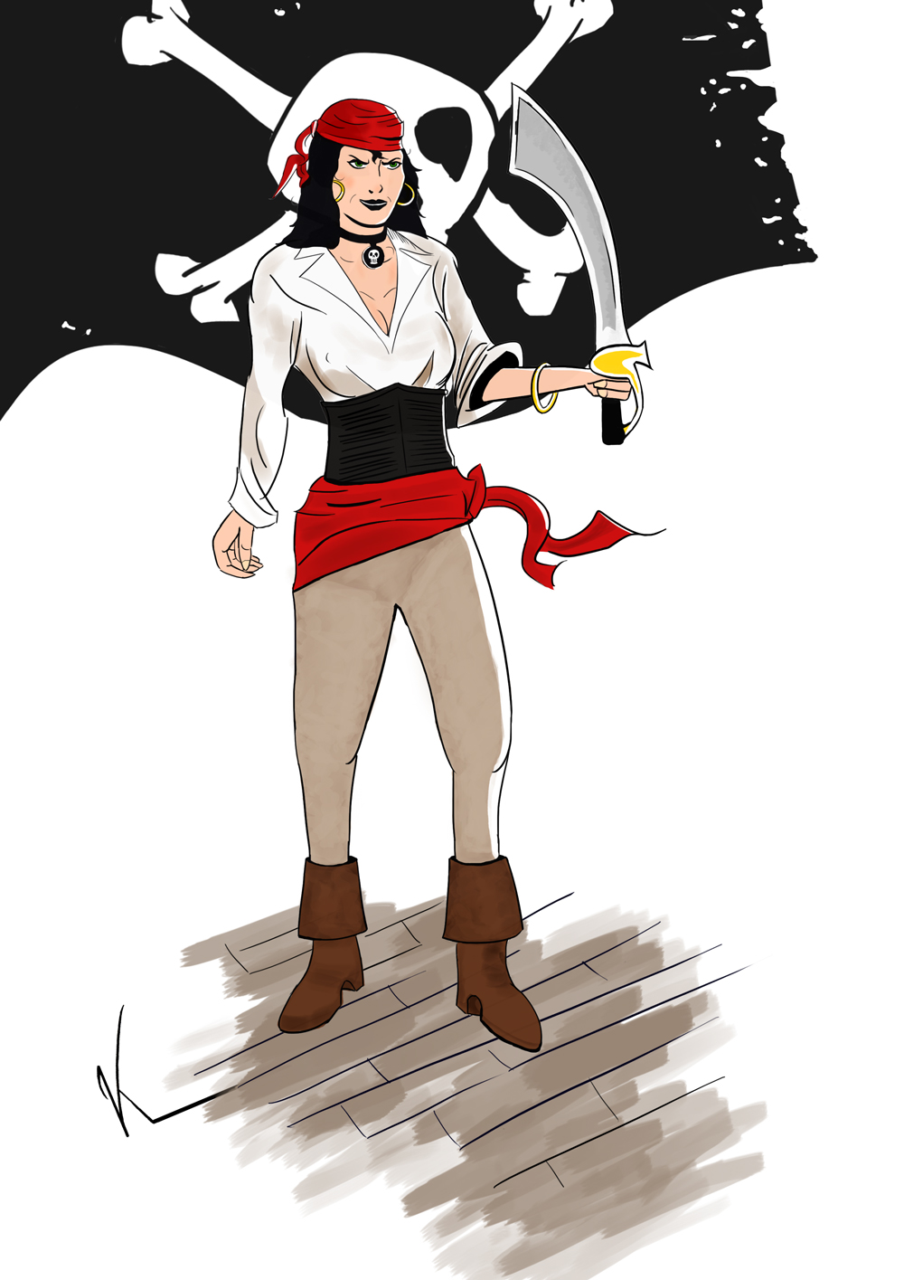 Pirate lass by Verhelm