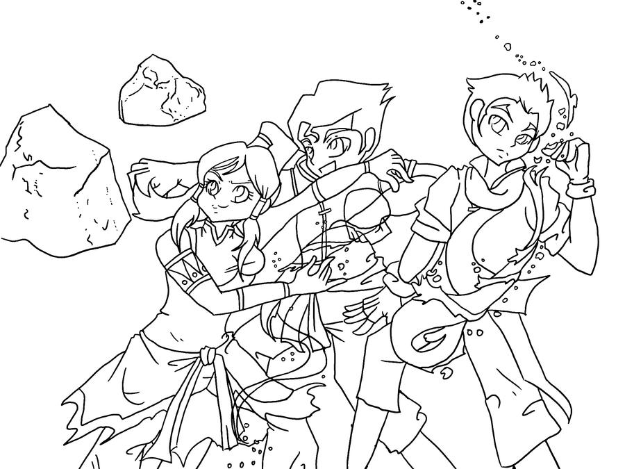 Legend of korra lineart by rena muffin on deviantart for The legend of korra coloring pages